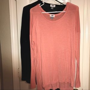 Two Old Navy long sleeve tops